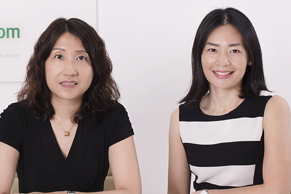 Pauline Lee and Ying Pakdeethai