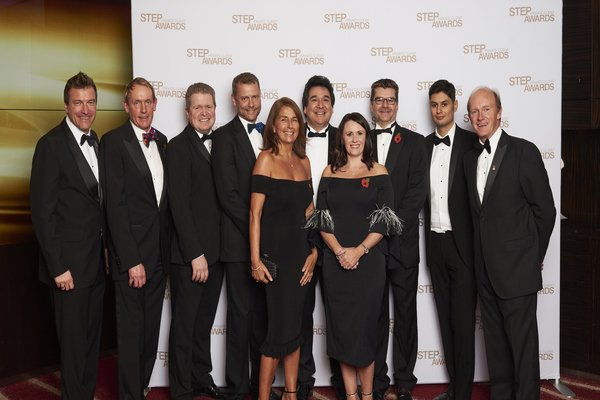 Members of Equiom's senior team at the 2018 STEP Private Client Awards